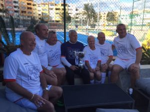 The winning team in Albufeira