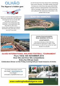 Visit Olhao for Walking Football